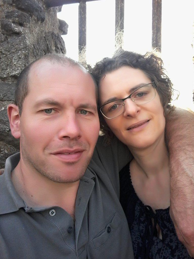Foto Petra und Paul im Treppenhaus des Kaiser-Wilhelm-Turms