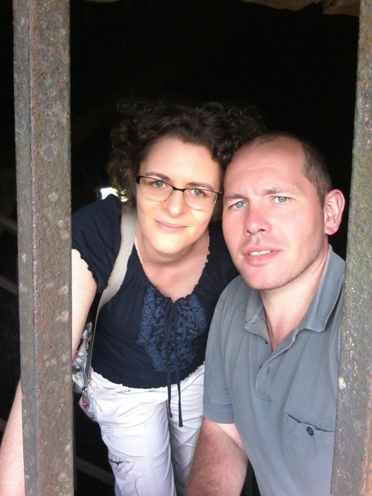 Foto 2 Petra und Paul im Treppenhaus des Kaiser-Wilhelm-Turms