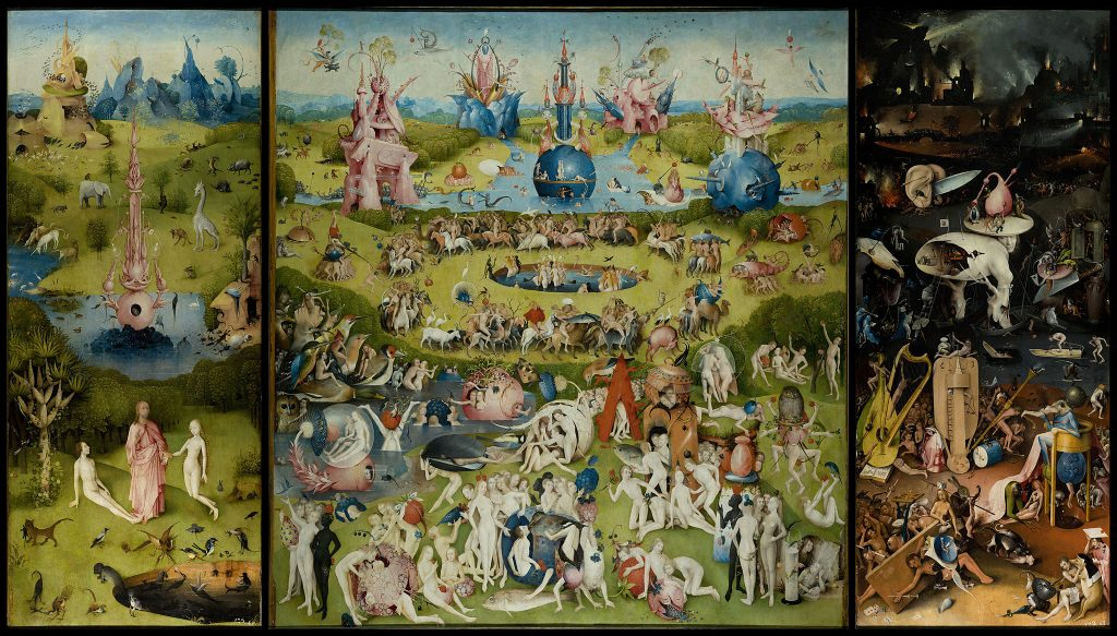 Liebe und Triebe. Oder: Lust auf den ersten Blick? - Hieronymus Bosch (etwa 1450–1516), Der Garten der Lüste