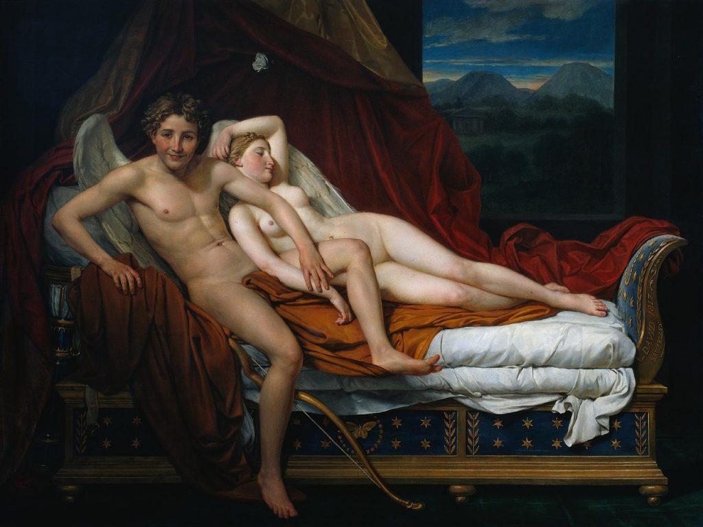 Liebe und Triebe. Oder: Lust auf den ersten Blick? - Jacques-Louis David, Cupido and Psyche, 1817