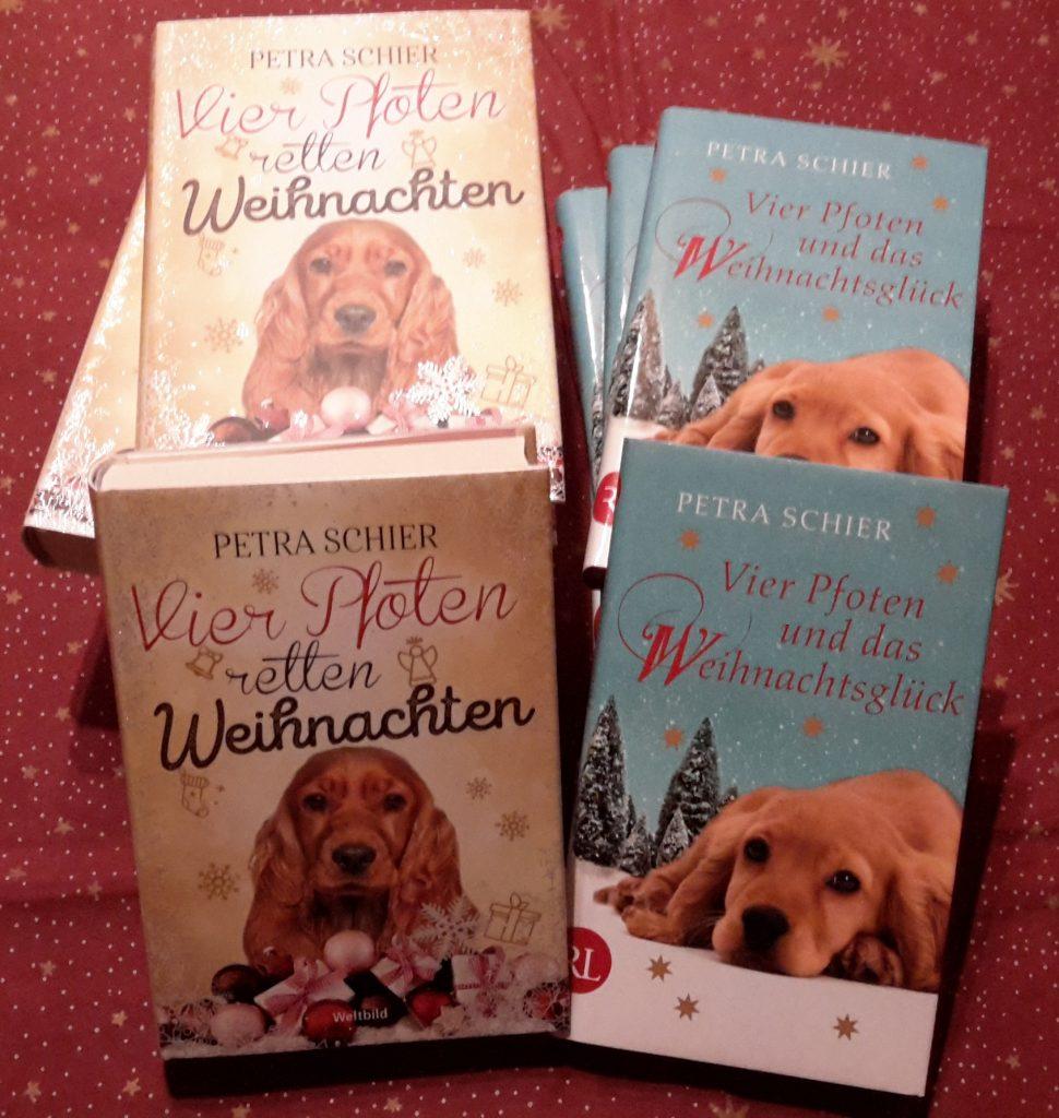 fünfmal zwei signierte Bücher von Petra Schier