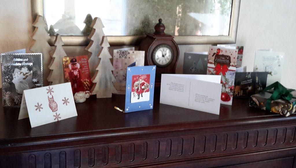 Weihnachtskarten (vorher)