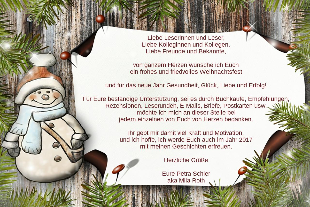 Petra Schier Weihnachtsgruß 2016