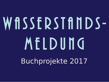 Wasserstandsmeldung: Buchprojekte 2017