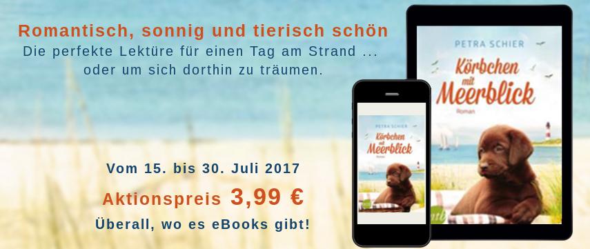 Preisaktion Körbchen mit Meerblick Juli 2017