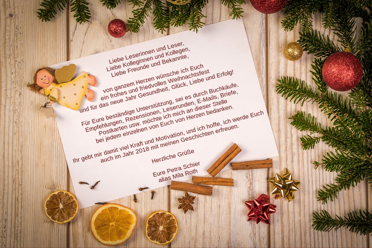 Petra Schier wünscht frohe Weihnachten 2017