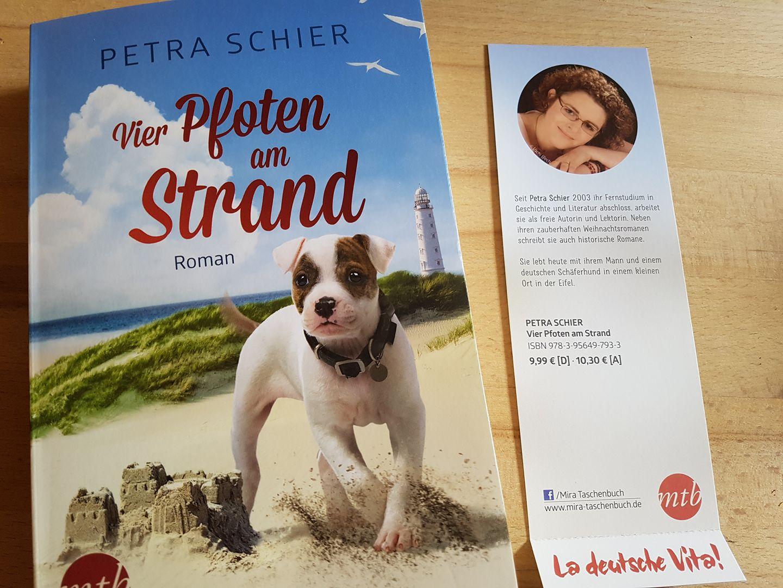 Lesezeichen La deutsche Vita Vier Pfoten am Strand (Rückseite)