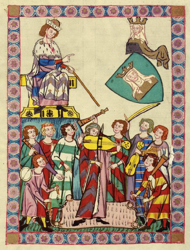 Codex Manesse Heinrich von Meißen (Frauenlob)