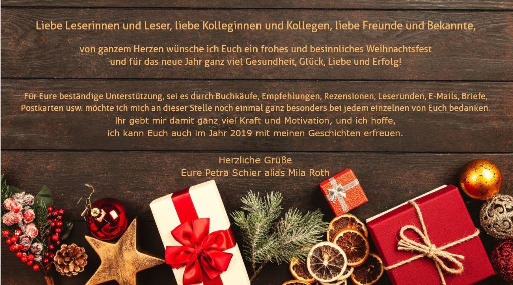 Weihnachtsgruß 2018 Petra Schier