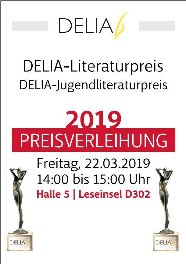 DELIA-Literaturpreis 2019 - DELIA-Jugendliteraturpreis 2019 Preisverleihung auf der Leipziger Buchmesse