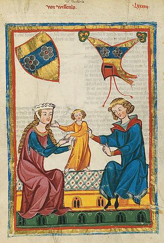 Codex Manesse 299r Von Wissenlo Meister des Codex Manesse (Grundstockmaler) [Public domain]