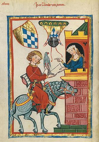 Codex Manesse Folio_164v_Leuthold_von_Seven Meister des Codex Manesse (Grundstockmaler) [Public domain]