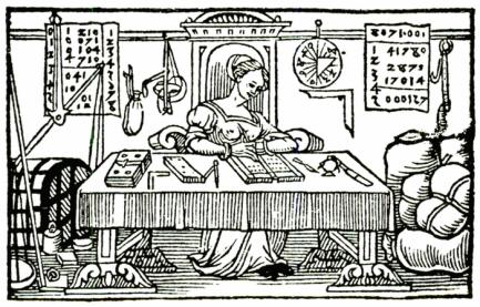 Bildnis einer mittelalterlichen Händlerin