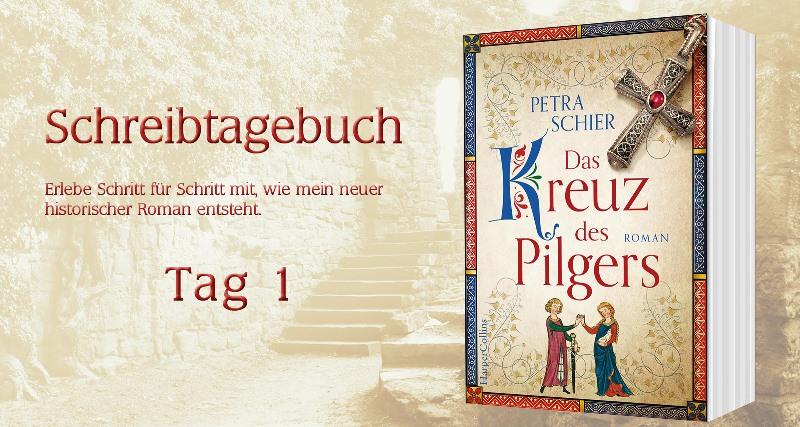 """Schreibtagebuch zu """"Das Kreuz des Pilgers: Tag 1"""