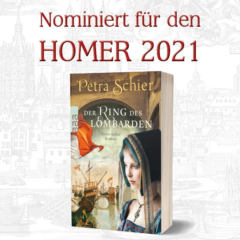 Banner Der Ring des Lombarden nominiert für den HOMER 2021