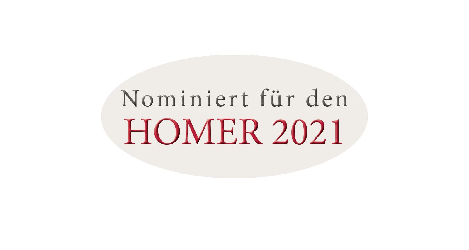Nominiert HOMER 2021 Button
