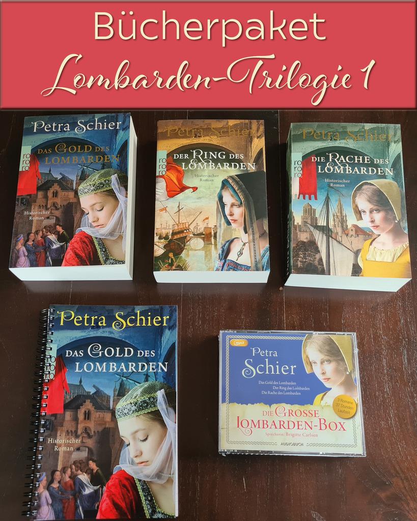 6., 7. und 8. Bücherversteigerung: Kreuz-Trilogie, Lombarden-Trilogie, Rheinbach-Hörbücher