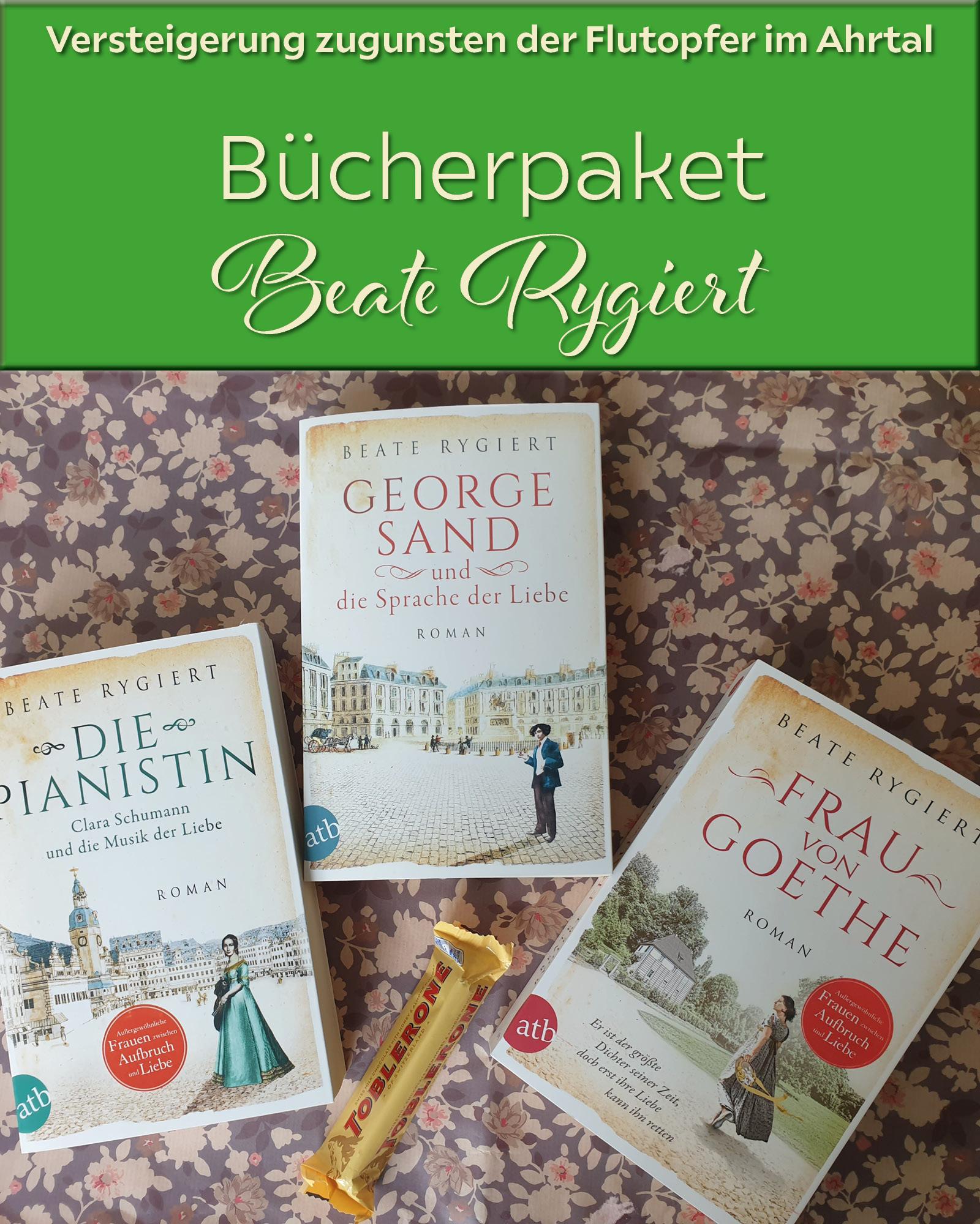 Versteigerungen mit Bücherpaketen von Monika Maifeld und Beate Rygiert